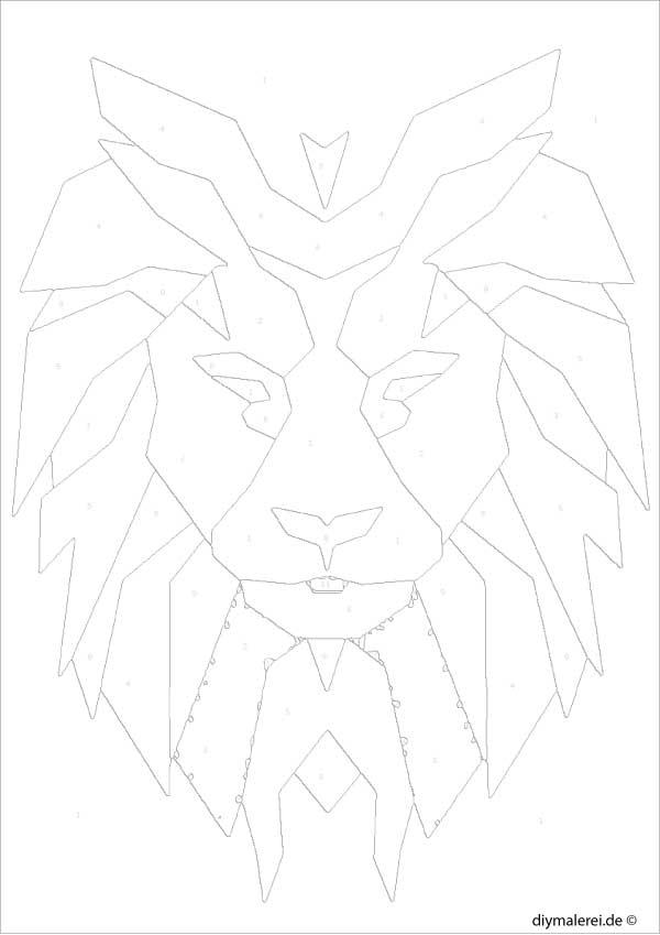28 löwe skizze kinder