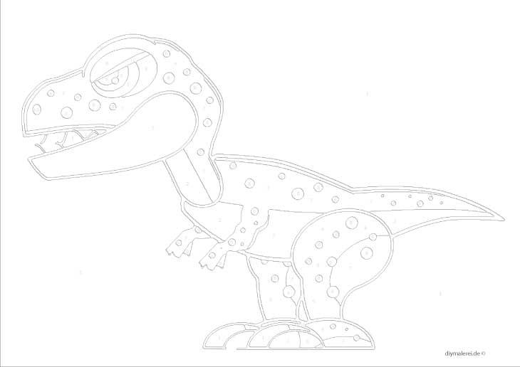 Malen Nach Zahlen Dinosaurier Zum Ausdrucken